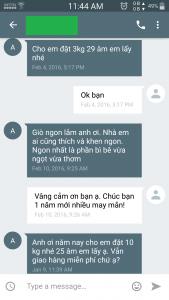 khách hàng khen giò me Nghệ An ngon Tết 2016