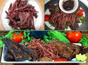 Thịt trâu gác bếp đậm đà hương vị vùng cao Tây Bắc